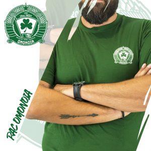 Πράσινη φανέλα με σήμα / Green t-shirt with logo